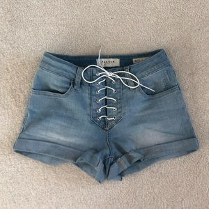 Pacsun tie up jean shorts